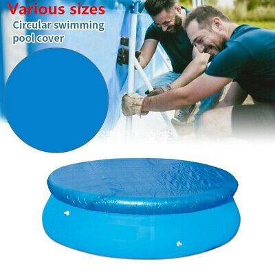 £11.59 • Buy Above Ground Round Swimming Pool Family Frame Paddling Pools Cover Easy Fast Set