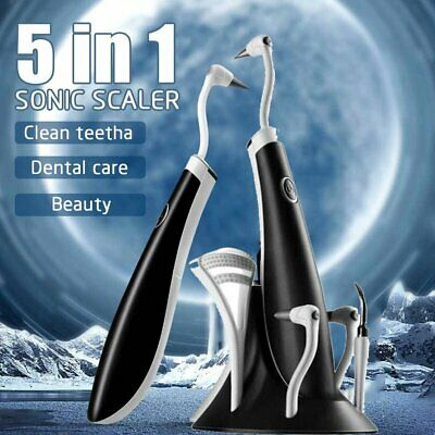 £11.89 • Buy 5 In 1 Ultrasonic LED Electric Oral Teeth Cleaning Kit Tooth Polishing Cleaner