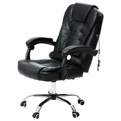 £69.99 • Buy Luxury Leather Office Massage Desk Chair Computer Gaming 360° Swivel Recliner