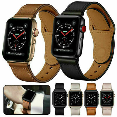 AU10.99 • Buy For Apple Watch Leather Strap IWatch Band Series 6 5 4 3 2 1 SE 38 40 42 44 Mm