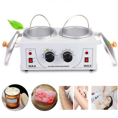 $42.99 • Buy Professional Double Pot Electric Wax Melter Machine For Salon Hair Removal 110V