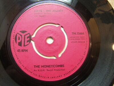 """£3.50 • Buy The Honeycombs – Have I The Right 1964 7"""" Pye 7N.15664 3-prong Centre"""