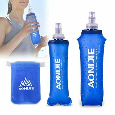 AU12.98 • Buy Soft Foldable Hydration Water Bottle Sport Running Flask TPU Outdoor Camping