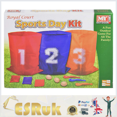 £7.99 • Buy The Magic Toy Shop 3 In 1 Sports Day Kit Sack Race Egg And Spoon Race Set Bean
