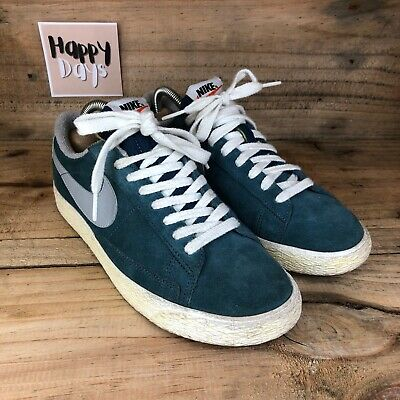 £19.99 • Buy Nike Blazer Low Premium VNTG Womens Blue/White Suede Casual Trainers Size UK6
