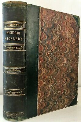 £13 • Buy 1839 FIRST EDITION Dickens NICHOLAS NICKLEBY Life Adventures Phiz 40 Plates