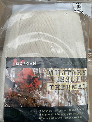 $21 • Buy Morgan Military Issue Super Heavy Duty Thermal Underwear Size 2x New Old Stock