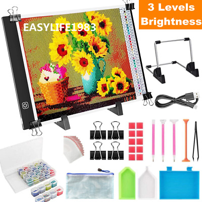 £12.95 • Buy A4 LED Lighting Pad Diamond Painting Tools Accessories Drawing Board Stand Kit