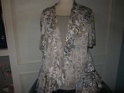 £3 • Buy Forever By Michael Gold 2 In 1 Top Taupe/blue Xl