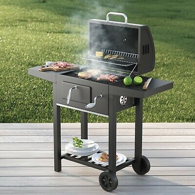 £114.99 • Buy Charcoal Barbecue BBQ Grill Smoker Outdoor Portable In Garden 109 X 45 X 96