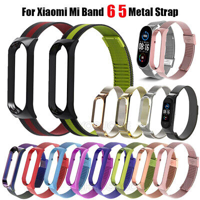 AU11.59 • Buy For Xiaomi Mi Band 6 5 Wristband Magnetic Stainless Steel Replacement Strap New