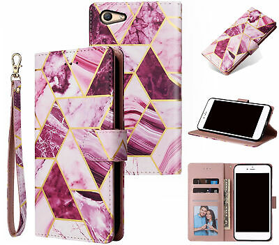 AU14.90 • Buy Oppo A59 F1s Case Gilded Marble Pattern Wallet