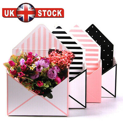 £6.99 • Buy 4/8/12pc Envelope Fold Flower Box Paper Floral Wrapping Party Wedding Gift Boxes