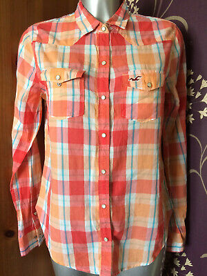 £4 • Buy Hollister Multi Colour Check Checked Casual Top Shirt Size 12-14