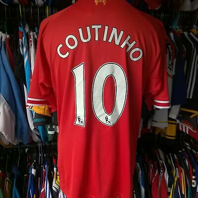 £39.99 • Buy Liverpool 2013 Home Football Shirt #10 Coutinho Warrior Jersey Size Adult 2xl