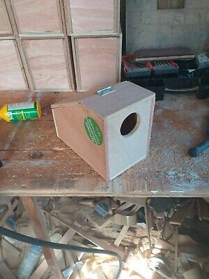 £7.50 • Buy Desktop Style Budgie Nestboxes Front Entrance Hole 9 X7 X5 1/2