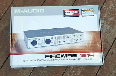$149 • Buy M-AUDIO FireWire 1814 Digital Recording Interface Complete Accessories Software