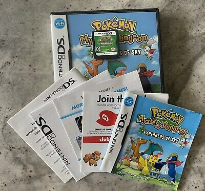 $129.99 • Buy Pokemon Mystery Dungeon: Explorers Of Sky (Nintendo DS, 2009) Complete - TESTED