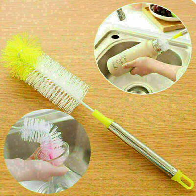 £2.99 • Buy Long Handle Bottle Cup Cleaning Brush Brew Scrubbing Kitchen Cleaner Washer Tool