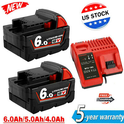 $46.99 • Buy For Milwaukee M18 XC 9.0 AH Extended Lithium-ion Battery 48-11-1890/Charger