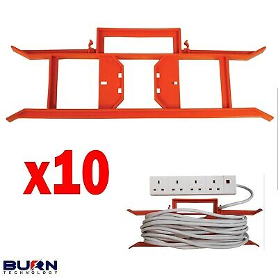 £16.99 • Buy 10x CABLE WIRE TIDY REEL H FRAME EXTENSION POWER LEAD CARRIER HOLDER PA DJ