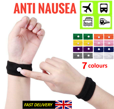 £2.38 • Buy 2X Motion Sickness Wrist Bands Morning Sickness Travel Sea Sickness Relief Bands