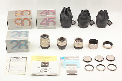 $ CDN1583.45 • Buy [Almost Unused All In BOX]  Contax T* 45mm 28mm 90mm 3 Lens Set For G1 G2 JAPAN