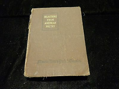$19.99 • Buy Antique Book Macmillan's Pocket Classics Selections From American Poetry 1921