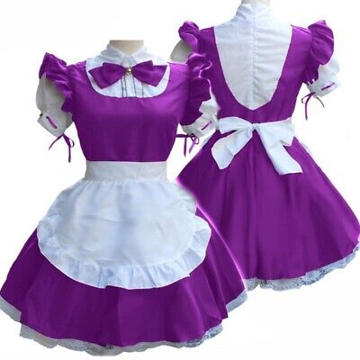 $26.88 • Buy Women Short Sleeve Doll Collar Maid Dress French Maid Outfit Cosplay Costume