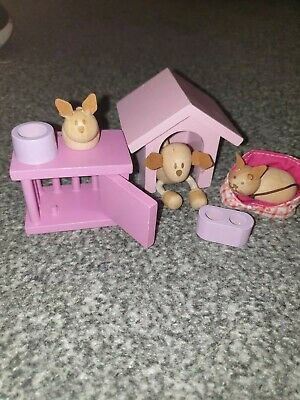 £9.50 • Buy Early Learning Centre Wooden Dolls House Furniture Bundle.D Pets