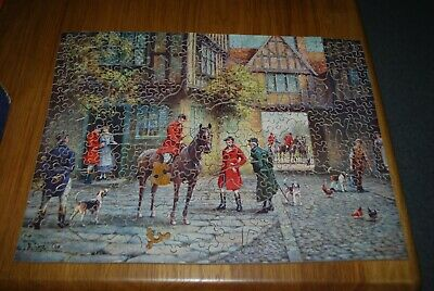 £9.99 • Buy Chad Valley Wooden Jigsaw ` A Hunting Morn ` With 25 Whimseys Approx300  Pieces