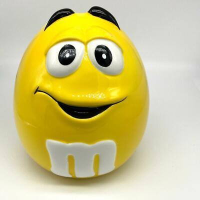 $13.49 • Buy M&M Ceramic Yellow Candy Cookie Canister Jar With Lid Galerie Peanut M&M