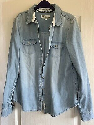 £7 • Buy Fat Face Ladies Chambray Shirt Size 14