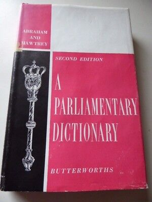 £10 • Buy A Parliamentary Dictionary ... Second Edition - Stephen Charles Hawtrey,