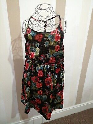 £3.50 • Buy Hearts And Bows Dress Size 8 Cute Sleeveless Floral