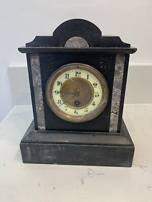 £54.99 • Buy Antique Slate And Marble Mantle Clock