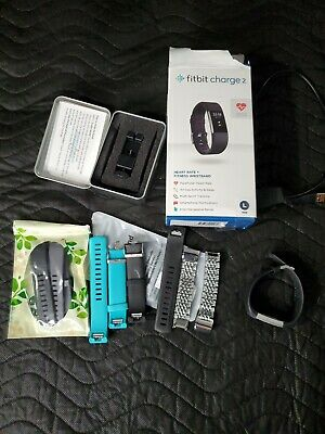 $29.99 • Buy Fitbit Charge Fitness Wristband W Lots Of Accessories Bands READ