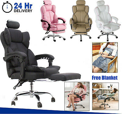 AU138.99 • Buy Office Chair High Back Executive PU Leather Recliner Computer Gaming Chairs Seat