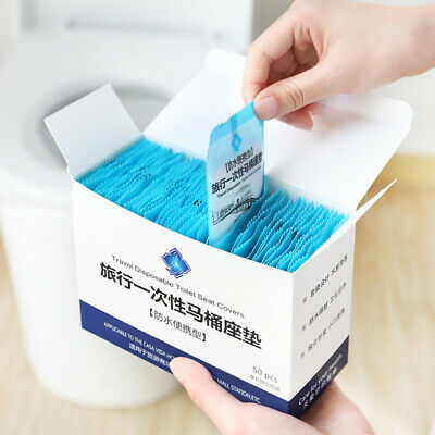 £3.73 • Buy Disposable Toilet Seat Covers Travel Safety Toilet Potty Seat Pad