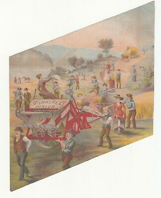 £4.33 • Buy Milwaukee Junior Agricultural Equipment Fields Hills Vict Card C1880s