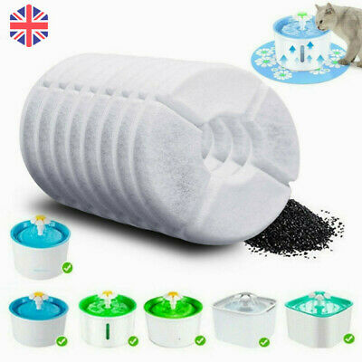 £8.67 • Buy 8Pc Pet Flower Style Fountain Filter For Automatic Cat Dog Water Drinking Supply