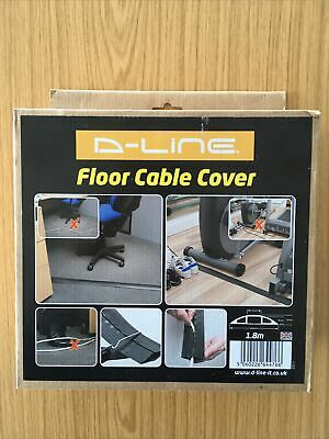 £1.20 • Buy NEW Black Floor Cable Tidy Wire Lead Cover Protector Ramp Strip. D-line.