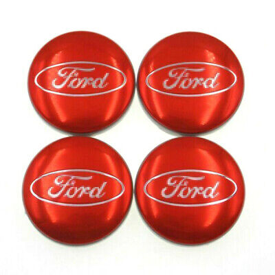 £7.90 • Buy 4 X Red Ford Alloy Wheel Centre Hub Caps 54mm Fits Most Models Focus Fiesta Kuga