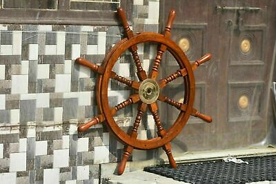 £80.50 • Buy Antique Brass Nautical Pirate Big Ship Steering Wheel Wooden 36'' Inch Christmas
