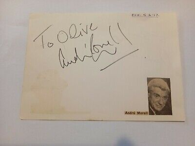 £25 • Buy Hand Signed Autograph Book Page Film & Theatre Actor Andre Morrell.