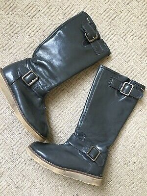 £9.99 • Buy Garvalin Girls Genuine Leather Inside And Out Boots Size 12.5 Euro 31 Grey
