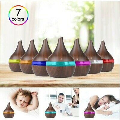 AU20.30 • Buy Wood Mini USB Humidifier Essential Oil Diffuser For Car Office Home Brown