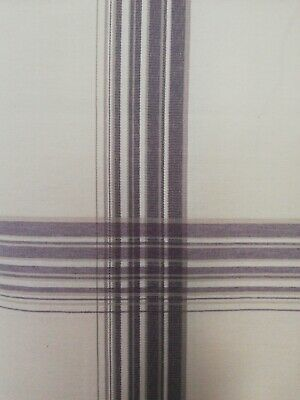 £0.99 • Buy Fabric Remnant Beige With Checked Pattern 133 By 120cms