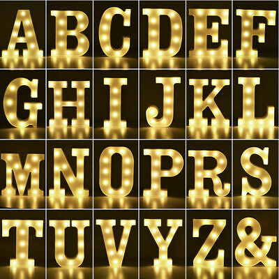 £0.99 • Buy LED Light Up Alphabet Numbers Lights White Plastic Letters Standing Sign A-Z 0-9