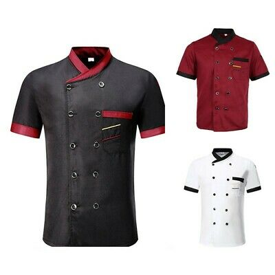 £11.78 • Buy Kitchen Clothes Chef Jacket Shirts Catering Tops Short Sleeve Workwear M - 3XL